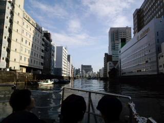 日本橋川のクルージング